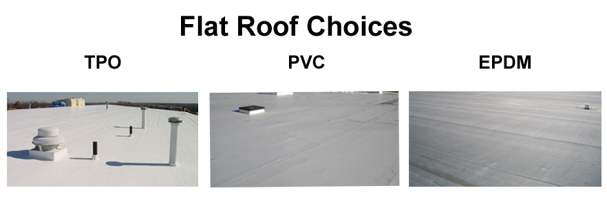 Flat roof choices - TPO, PVC, EPDM