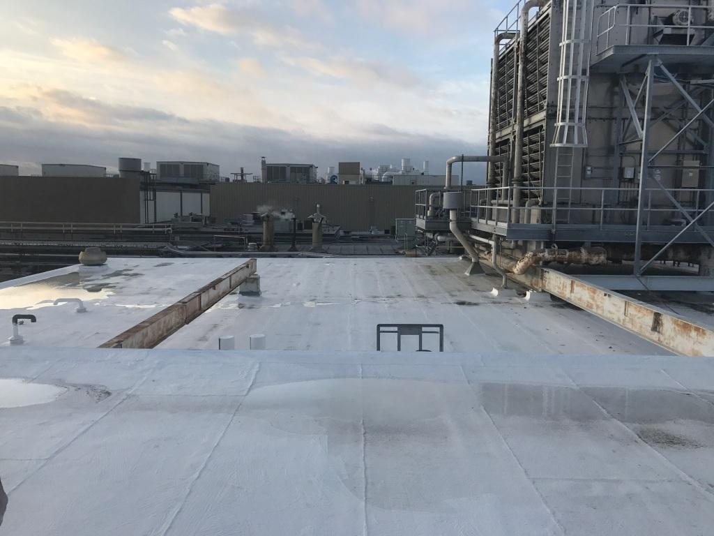 Commercial silicone roof