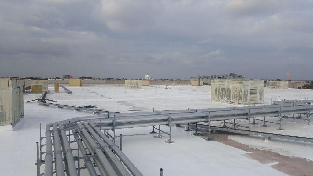 Silicone Roof System Commercial Roofing Dallas Tx